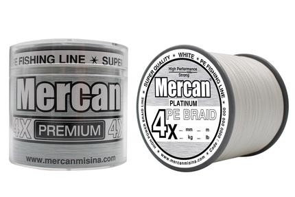 MERCAN MARKA ÜRÜNLER - Mercan Pe Örgü Premium 4X ip 1000 m Beyaz Misina