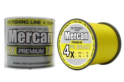 MERCAN MARKA ÜRÜNLER - Mercan Pe Örgü Premium 4X ip 500 m Fosforlu Sarı Misina